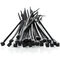 Cable ties 2,5 x 200mm UV Black 100 pcs