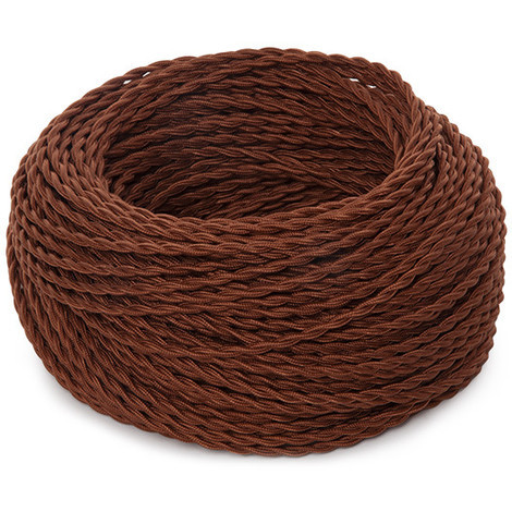 Cable Trenzado 2X0,75 Marron X 1M [SKD-CT275-BROWN] (SKD-CT275-BROWN)