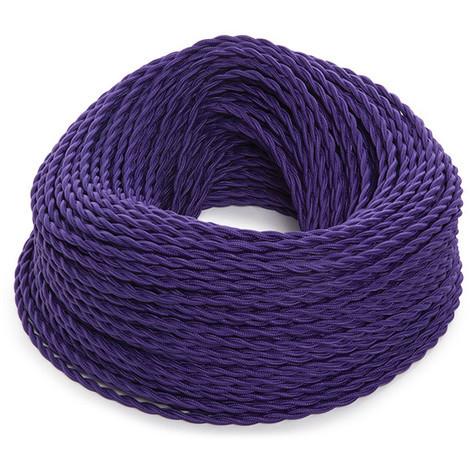 Cable Trenzado 2X0,75 Morado X 1M [SKD-CT275-PURPLE] (SKD-CT275-PURPLE)