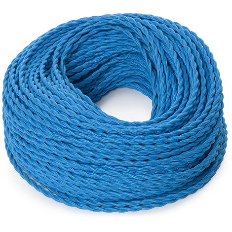 Cable Trenzado 2X0,75 Turquesa X 1M [SKD-CT275-TURQUOISE] (SKD-CT275-TURQUOISE)