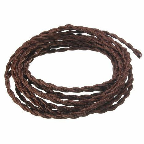 Cable trenzado de Seda Fanton 3X1,5 bobina de 10 metros Marrón 93868-10