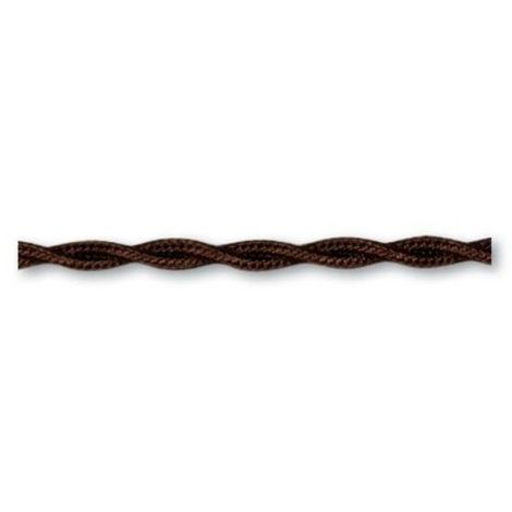 Cable trenzado Gambarelli marrón 3x1mm hank 100mt 10308