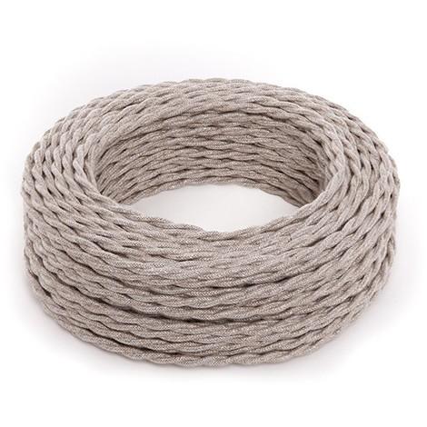 Cable Trenzado Lona Beige 2X0,75 X 1M [AM-AX716] (AM-AX716)