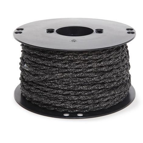 Cable Trenzado Lona Gris Oscuro 2X0,75 X 1M [AM-AX372] (AM-AX372)