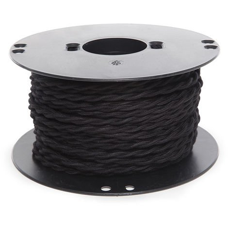 Câble Tressé 2 X 0,75Noir x 1M (AM-AX360)