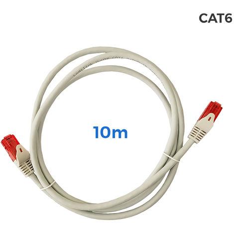 Cable utp cat.6 latiguillo RJ45 cobre lszh gris 10m