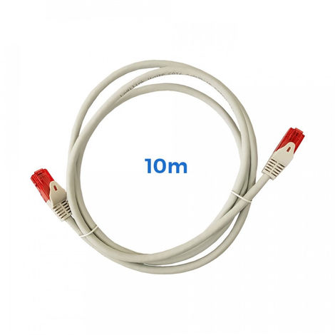 Cable Utp Cat.6 Latiguillo Rj45 Cobre Lszh Gris 10M - NEOFERR