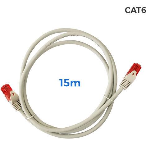 Cable utp cat.6 latiguillo rj45 cobre lszh gris 15m