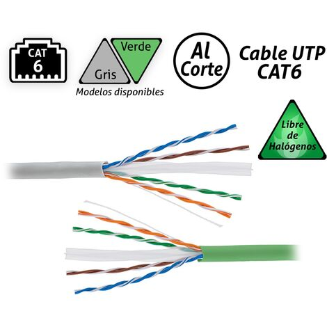 Cable UTP CAT6 Libre Halógenos -Disponible en varias versiones