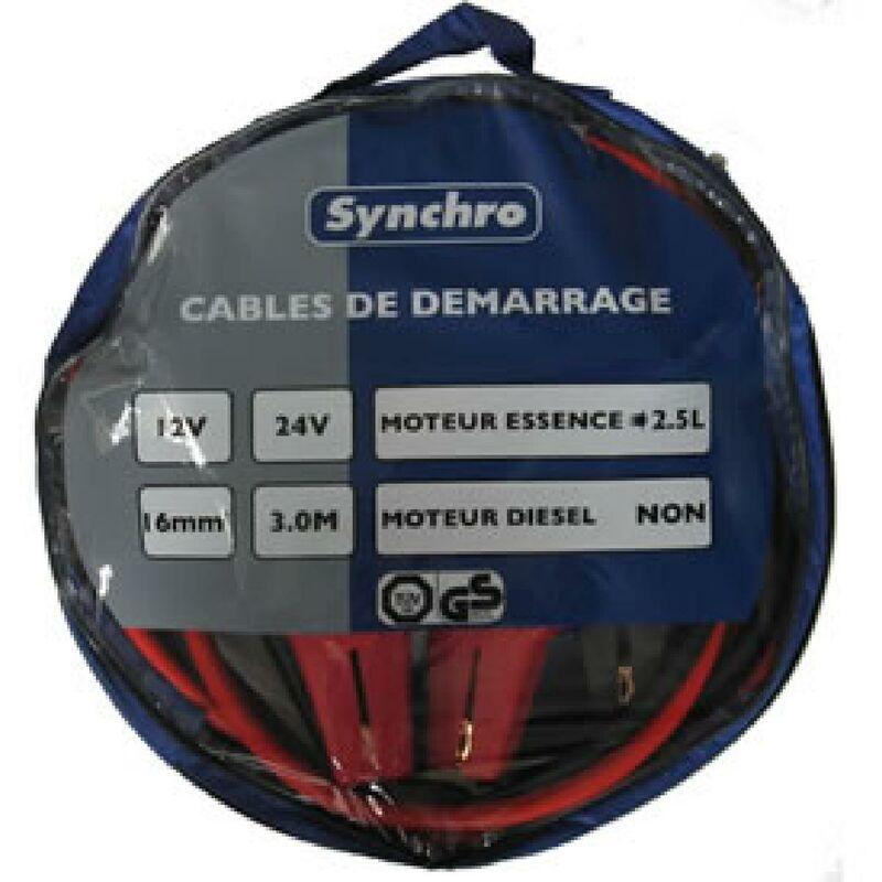 Cables de demarrage 16mm2 - 220A