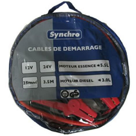 Cables de demarrage 25mm2 - 350A Generique