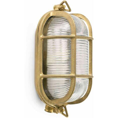 Cabo 1-light brass garden wall light