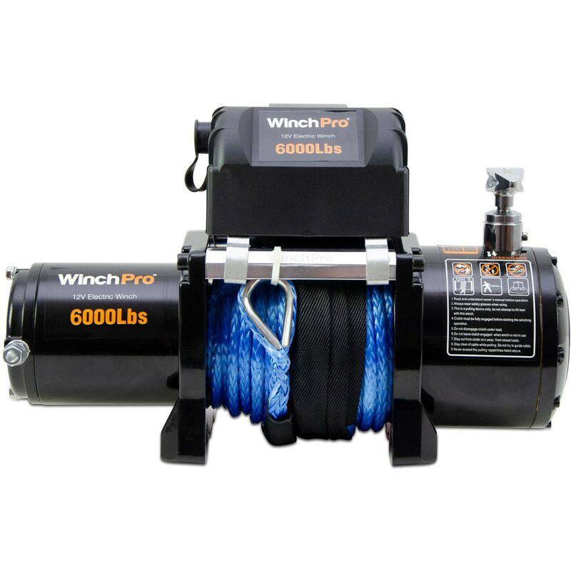 Cabrestante Electrico 12v Winch 2721Kg con Mando a Distancia 24m de Cable