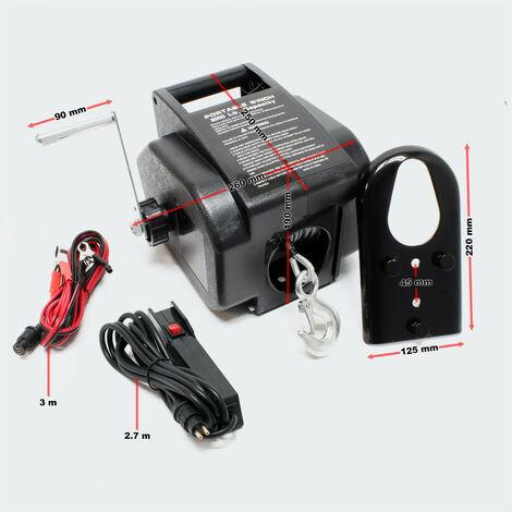 cabrestante eléctrico 12V motor de la tensión del cable de acero del cabrestante hasta 4990kg
