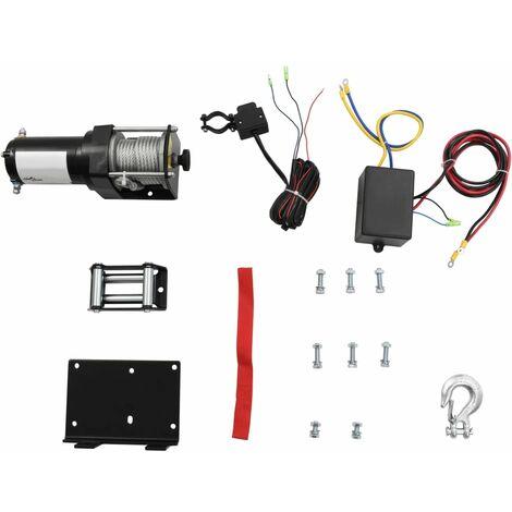 Cabrestante eléctrico placa montaje guía de rodillo 12V 1360KG