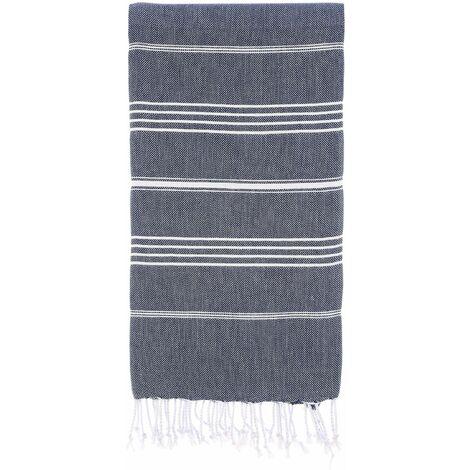 CACALA, asciugamani Pure Series, Cotone, Dark Blue, 95 x 175 x 0.5 cm