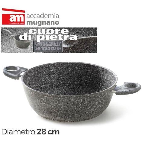 Cacerola 28cm antiadherente efecto piedra - Accademia Mugnano CUORE DI PIETRA