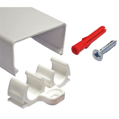Cache Blanc RS PRO pour conduit diamètre 15mm