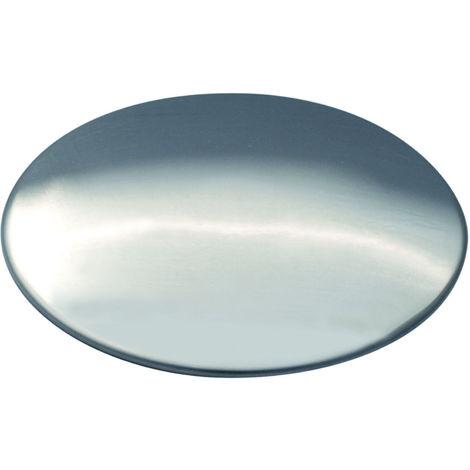 Cache bonde en acier inoxydable brillant - pour éviers de cuisine - Aquatop