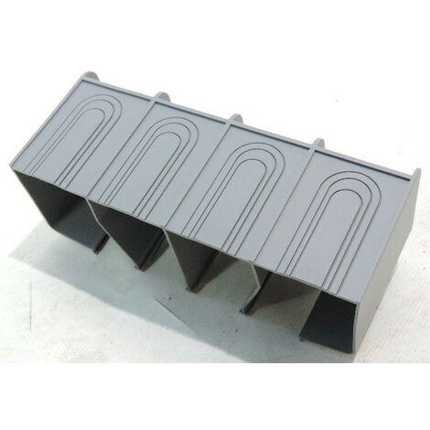 Cache borne plastique isolant 4P pour épanouisseur de disjoncteur général X160 HAGER HYA024H