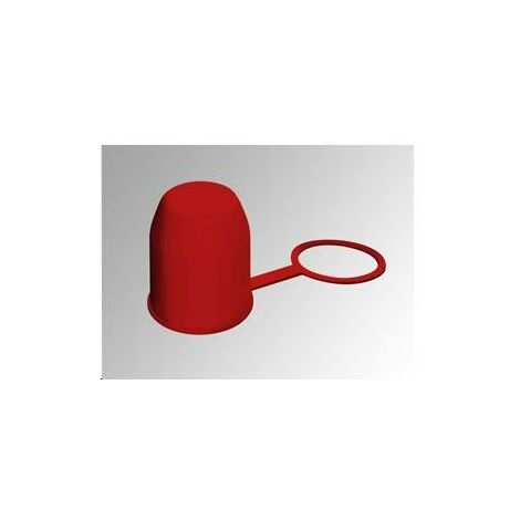 Cache Boule Pvc Rouge Avec Bague Las