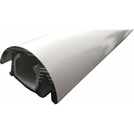 Cache câbles aluminium (L x l x h) 1000 x 30 x 15 mm blanc (brillant) Contenu: 1 pc(s) Alunovo MHW-100