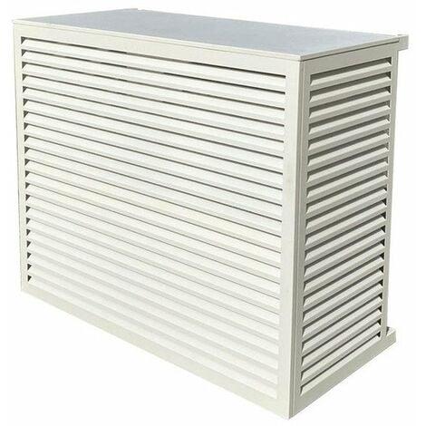 Cache Climatiseur au sol Taille L en Aluminium Blanc 9010