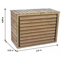 Cache climatiseur extérieur en bois