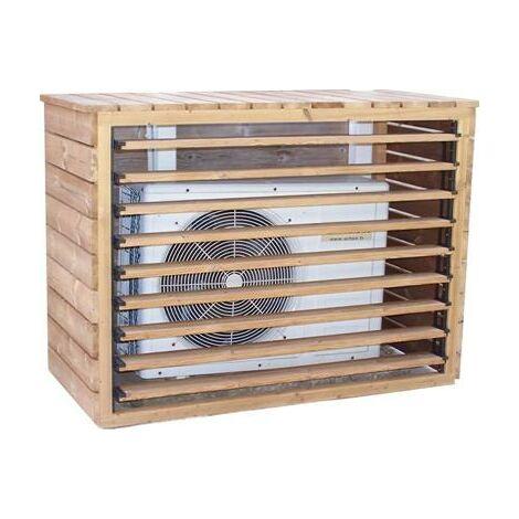 Cache climatiseur extérieur et pompe à chaleur fabriqué en bois massif traité très haute température