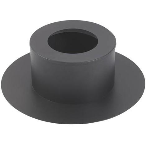 Cache conduit poele rond noir O180