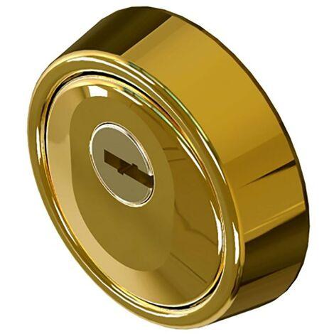 Cache-cylindre de haute sécurité Ø 65X24/17Mm Acier massif carbonitruré Pvd Gold