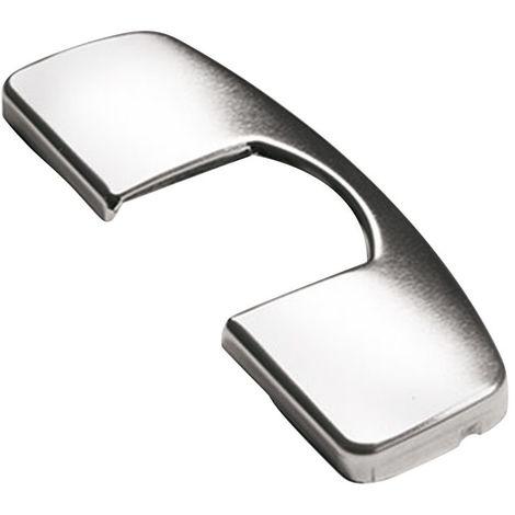 Cache de boîtier de charnière th 52 / th 53 - Entraxe : 52 mm - Décor : Nickelé - Largeur : 68,2 mm - HETTICH