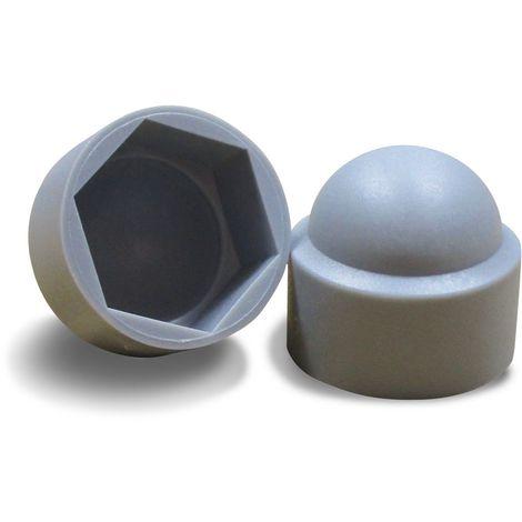Cache Ecrou Plastique Gris - Plusieurs Dimensions
