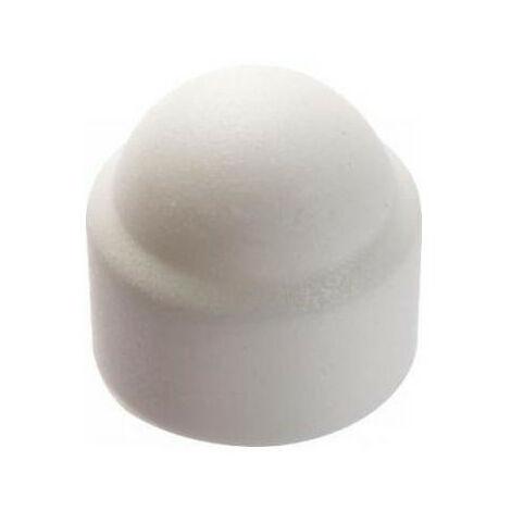 Cache écrous 6 pans polyéthylène blanc (paquet de 10) - plusieurs modèles disponibles