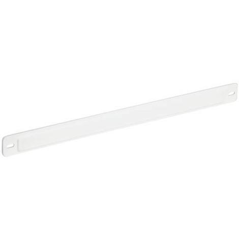 Cache mortaise 250x12 max. blanc