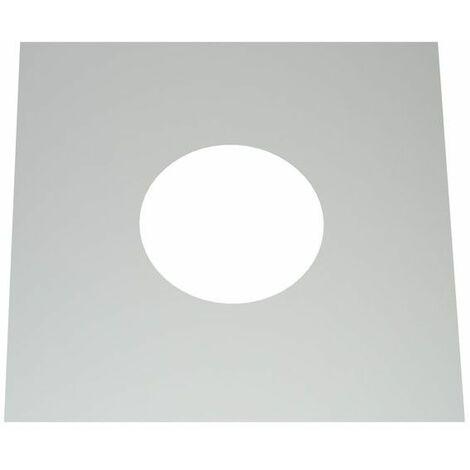 Cache murale/plafond inox monopièce 0°