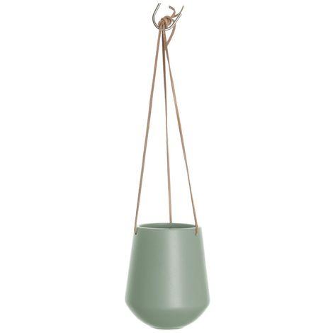 Cache-pot suspendus médium Skittlie - H. 65 cm - Vert kaki