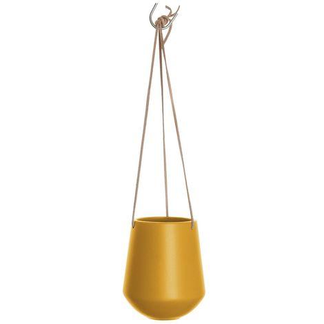 Cache-pot suspendus médium Skittlie - H. 66 cm - Jaune
