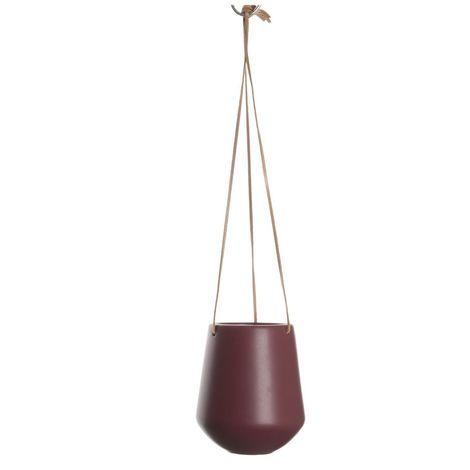 Cache-pot suspendus médium Skittlie - H. 66 cm - Rouge foncé