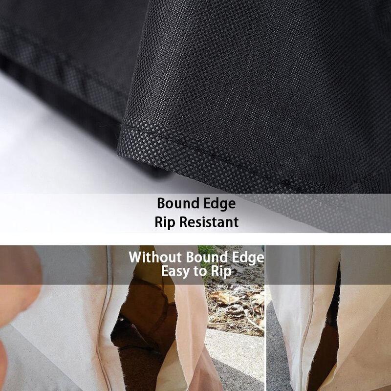 Cache-poussière de table de jardin noir 110 * 110 * 65cm - Black