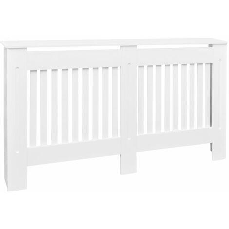 Cache-radiateur Blanc MDF 152 cm