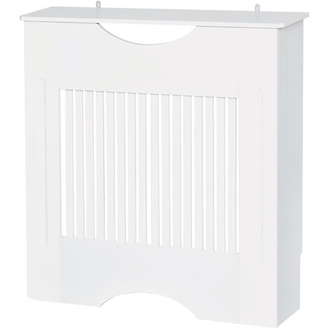"main image of ""Cache-radiateur design panneau 78 x 19 x 82 cm MDF blanc - Blanc"""