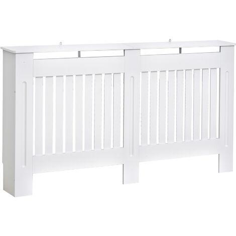 Cache-radiateur design panneau cabinet 152L x 19l x 81H cm MDF blanc