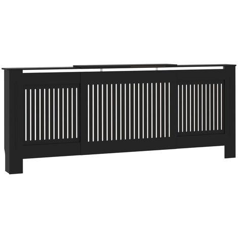 Cache-radiateur MDF Noir 205 cm