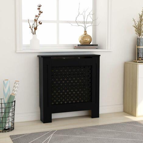 Cache-radiateur MDF Noir 78 cm