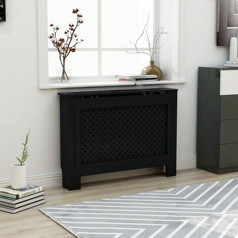 Cache-radiateur Noir 112x19x81 cm MDF3966-A