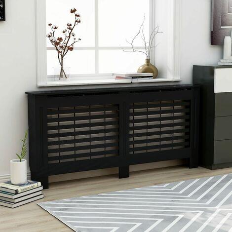 Cache-radiateur Noir 172x19x81 cm MDF