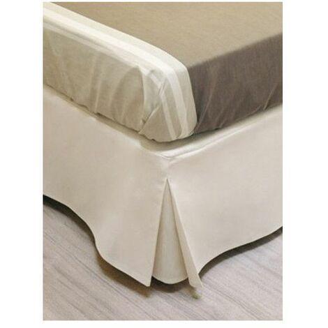 Cache sommier beige - Décoration sommier 90 x 190 cm - Linge de lit