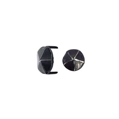 Cache vis fer forgé HSI tête diamant forme ronde 2 pointes - 16x11mm - 179930