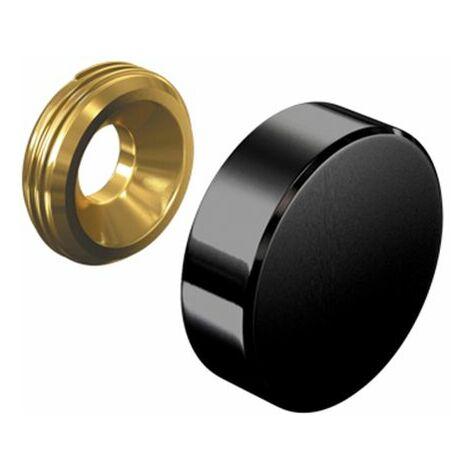 Cache vis noir 18 mm